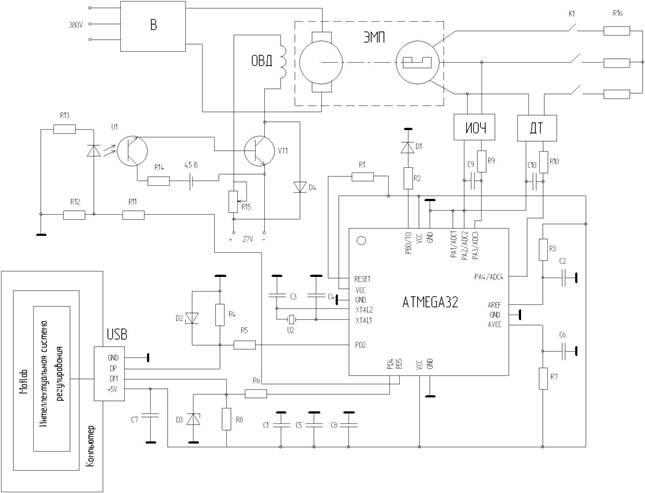 Схема лабораторной установки