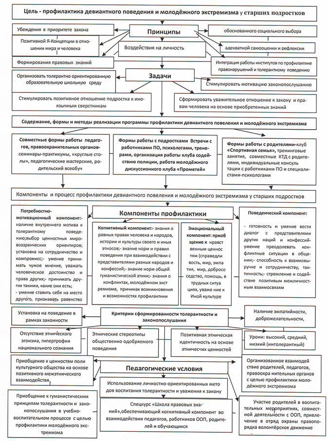 Модели профилактической работы гончарова алена