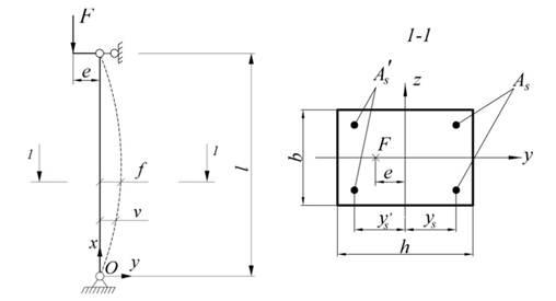 Расчетная схема и поперечное